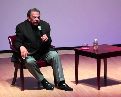 Civil rights activist Andrew Young gives knowledge to NCCU students
