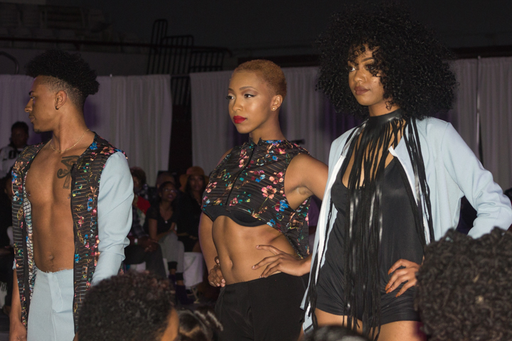 Tomarius Leach's collection mixed edgy with soft elements and bold cuts. Photo by Keyandra Cotton/Echo Photo Editor