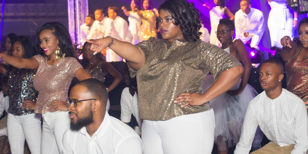 A show stopping performance before the crowning of the royal court at the Coronation Ball in McDougald-McClendon Gymnasium, Oct. 12.  Photo by Keyandra Cotton/Echo photo editor