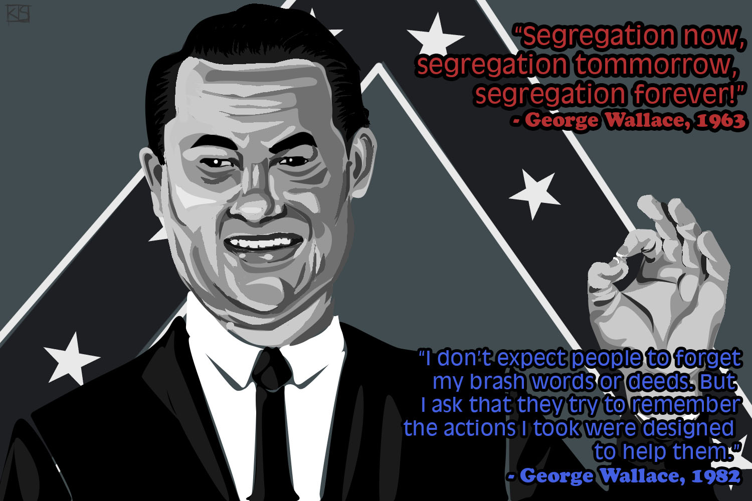 Image result for GEORGE WALLACE CARTOON